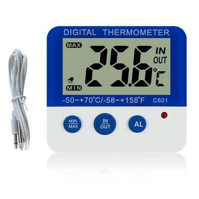 C601 Digital thermometer IN/OUT Dual USE Alarm Freezer Thermometer ℃/℉