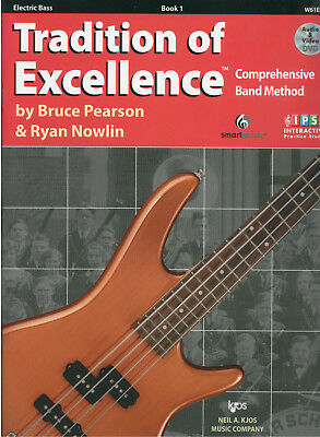 Tradition Of Excellence Electric Bass Music Book 1 + DVD *NEW* Pearson & Nowlin