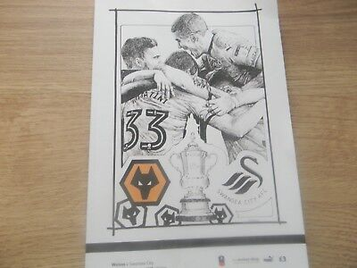 WOLVES v SWANSEAA CITY  F.A.CUP PROGRAMME 2017/2018