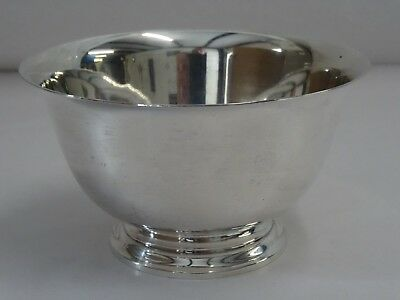 """Tiffany & Co Sterling Silver  23614 Footed Bowl 4-1/4"""" - Excellent"""