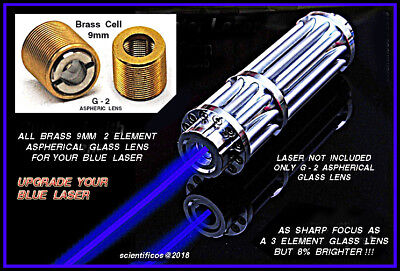 BLUE LASER G-2 ASPHERICAL GLASS Replacement Lens - for Brightest Laser Output