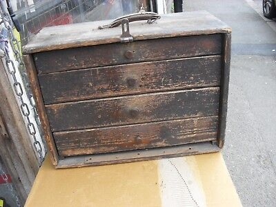 vintage engineers cabinet in need of restoration woodware toolbox at coventry