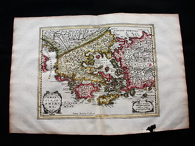 1676 VAN DER KEERE - orig. map: Greece, Athens, Macedonia, Balkans, Bulgaria