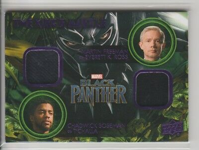 2018 Upper Deck Black Panther The Kings Mantle Dual Memorabilia K. Ross/T'Challa