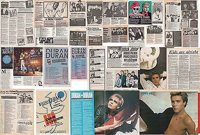 DURAN DURAN : CUTTINGS COLLECTION -adverts interviews-