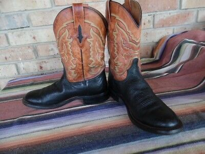 5ae93fa0cf3 MENS RESISTOL RANCH By Lucchese Caiman alligator or crocodile Sz 9 1 ...