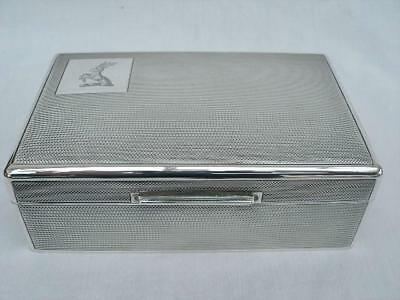 Superb Sterling Silver Cigarette Box By Mappin & Webb. London 1959.