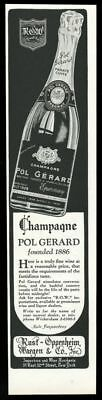 1934 Pol Gerard Champagne 1928 Brut bottle photo vintage print ad