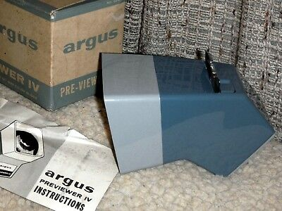 Argus Pre-Viewer 1V 35 Mm & 127 Slide Film With Box, Loader And Manual