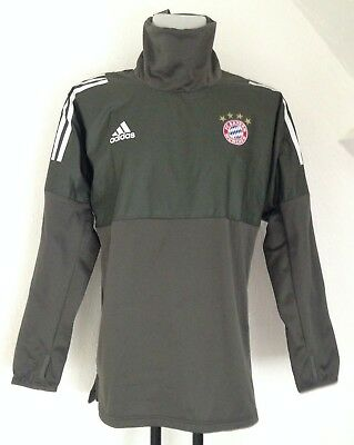 Bayern Munich Grey Ucl Hybrid Top By Adidas Size Adults Medium Brand New
