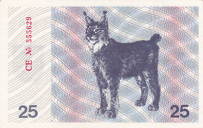 25 Talonas Extra Fine-Aunc Banknote From Lithuania 1991!pick-36