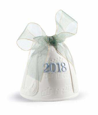 Lladro 2018 Christmas Bell #18437 Brand New In Box Annual Ltd Save Free Shipping