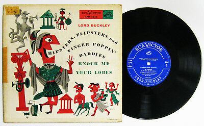 """Lord Buckley Hipsters Flipsters and Finger Poppin' Daddies 10"""" vinyl 1955 VG"""