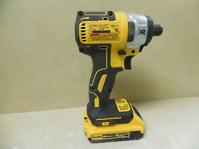 DeWALT DCF886 1/4 Impact Driver Brushless 20V 20 Volt - with Battery