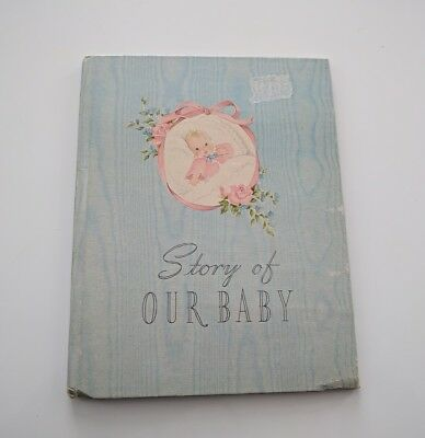 Vtg 1941 Whitman Story of Our Baby  Record Memory Book Janet Laura Scott 1940's