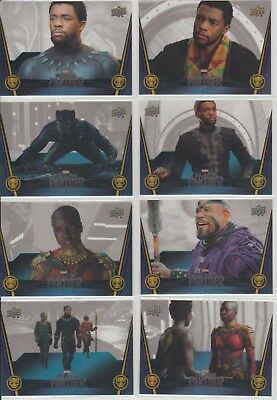2018 Upper Deck Marvel Black Panther Acetate parallel cards LOT 8 T'Challa Okoye