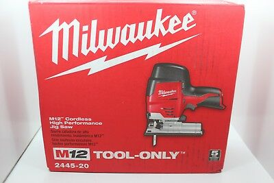 NEW Milwaukee 2445-20 M12 12V Li-Ion Cordless Compact Jig Saw (Tool Only)