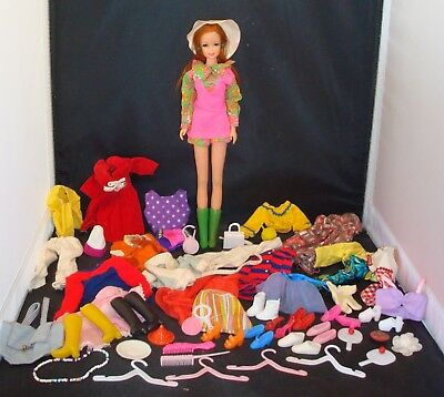 Vintage Barbie Friend Stacey Redhead Red Copper Penny Hair W/ Clothes & More!