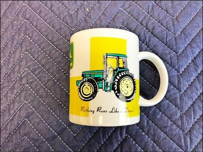 Gibson JOHN DEERE Coffee Mug white 12 oz nothing runs like a tractor cup ceramic
