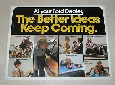 1978 Ford Full Line Auto Sales Dealership Advertising Color Brochure Pinto