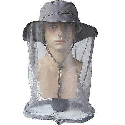 Men s Waterproof Wide Brim Sun Hat Outdoor Fishing Cap Mosquito Net Boonie  Hat e0566fd0c49