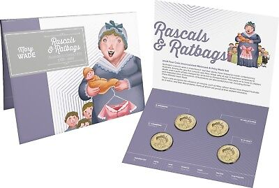 2018 Australia Rascals and Ratbags Four Coin Unc Mintmark & Privy Mark Set