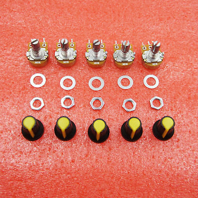 5pcs 10K OHM 3 Terminal Linear Taper Rotary B Type Potentiometer High Quality