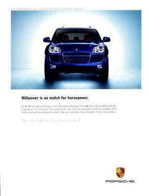 2005 2006 Porsche Cayenne Turbo S Original Advertisement Print Art Car Ad J964