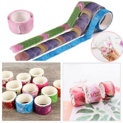 Lots 200PCS Masking Scrapbook Sticker Sticky Paper Flower Petals Tape Washi Tape