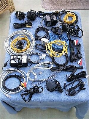 "Bundle Assorted Cables Adaptors Computer Mobile Phone USB Ethernet HDMI Etc ""RW"""