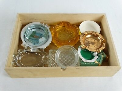 Ashtray collection inc Good Year Art Glass Brass Dervia Italian Meissen Crystal