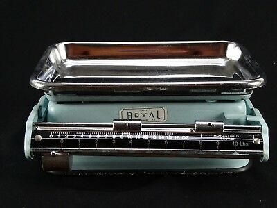 Vintage ROYAL enameled  Scales - A tower product - Foreign- Balance beam 1950s