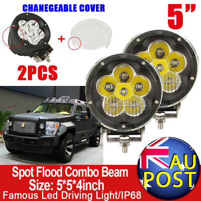 "2X5""inch CREE LED Spot Driving Work Light Spotlights Offroad 4x4 4WD Truck Black"