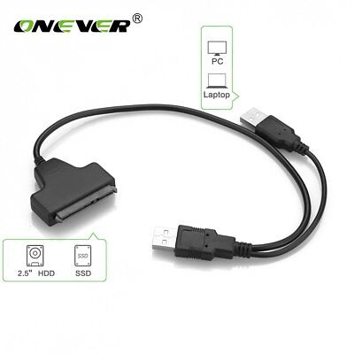 "USB 3.0 To USB 2.0 SATA 22 Pin Adapter Cable For 2.5"" External Hard Disk Drive"