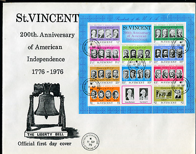 ST VINCENT: (18261) USA Presidents/MISSING COLOUR First Day Cover