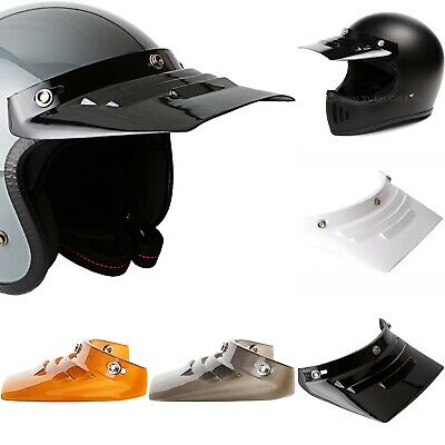 Visor Duckbill Sunshield Vented for 3-Snap Helmet Motorcycle AHRMA Motocross MX