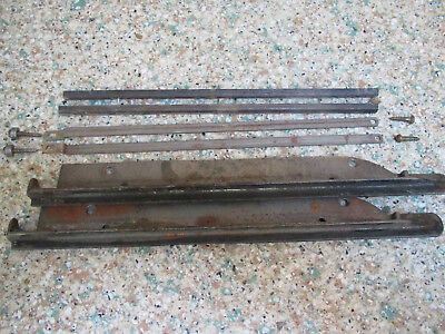 Old barrister/lawyer bookcase door & stacking hardware for single section