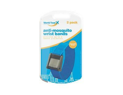 Travel Anti-Mosquito Wrist Bands, Provide Up to 2 Weeks Protection, Pack of 2