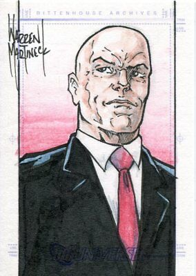 DC Legacy Sketch Card By Warren Martineck