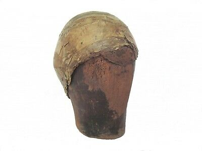 Wooden French 18th Century Walnut Perruque, Wig Last with Vellum