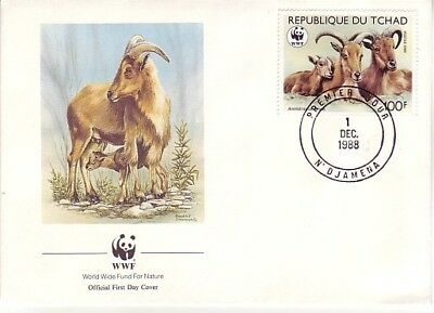 Chad - Barbary Sheep, Endangered Species (WWF FDC) 1988