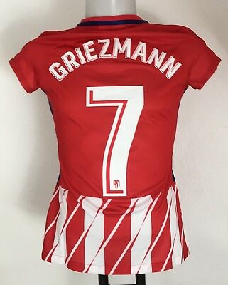 Atletico Madrid 2017/18 S/s Home Shirt Griezmann 7 By Nike Ladies Medium New