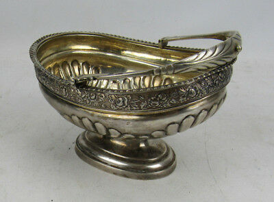 Antique Russian 84 Silver Footed Basket WIth Handle Signed Lindman 13.7 Toz