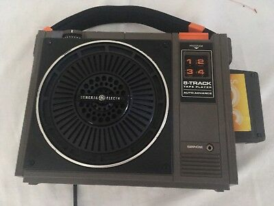 Vintage G.E General Electric 8 Track Player No 3-5505F Tape Player Nice