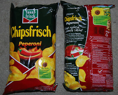 10 x 175g Packung funny-frisch Chips Peperoni  - 02/04/18