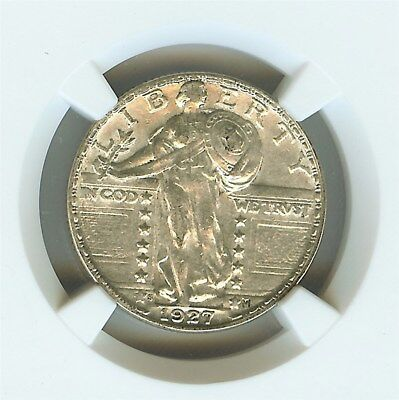 1927-S Standing Liberty Silver 25 Cents  Ngc Au50  Keydate!