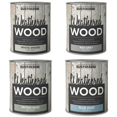Rust-Oleum Aged Weathered Drift Wood Rustic Effect Translucent Paint - 750ml