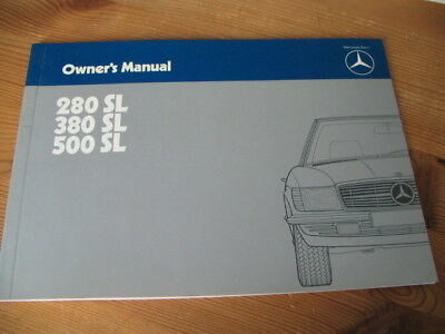 Owner´s Manual, Bedienungsanleitung, Mercedes 280 SL, 380 SL, 500 SL