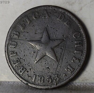 1853 Chile 1 Centavo *Free S/H After 1st Item*