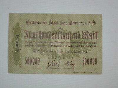 Hessen - Bad Homburg - 500 Tausend + 1 Billion Mark